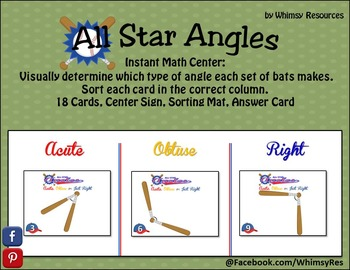 All Star Angles Obtuse Acute Right Math Center