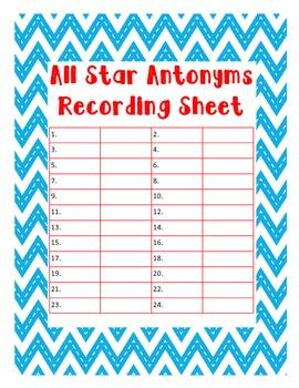 All Star Antonyms