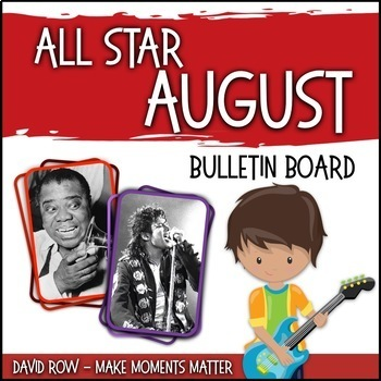All-Star August -- Music Bulletin Board Set