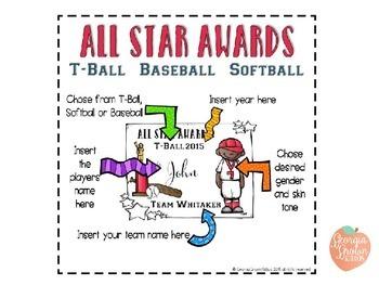 All Star Awards for Baseball, Softball, and T-Ball