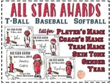 All Star Awards for Baseball, Softball, and T-Ball