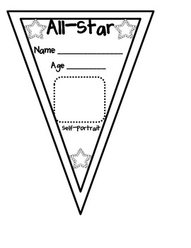 All Star Back to School Pennant