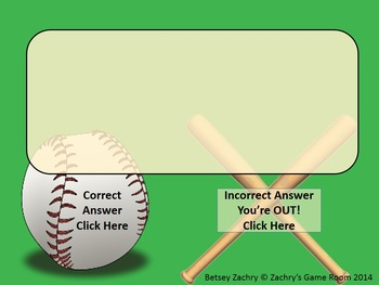 Game Template: All Star Baseball Interactive PowerPoint