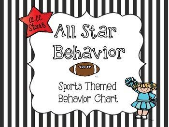 All Star Behavior - Sports Theme Behavior Chart