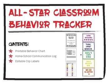 All-Star Classroom Behavior Tracker