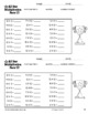 Multiplication Facts Printable Worksheets (Sports Theme)