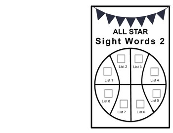 IRLA All Star Sight Word Books!