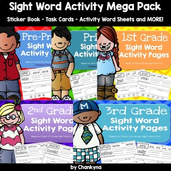 Ultimate Sight Word Activity Pack (Aligned w/ PP-3rd Grade Dolch Lists)