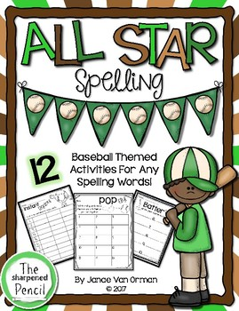 All Star Spelling ~ Spelling activities and practice for a