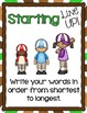 All Star Spelling ~ Spelling activities and practice for any words!