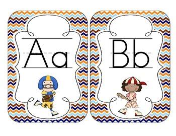 All-Star Sports Alphabet Cards