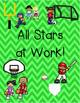 All Star Sports Classroom Job Chart