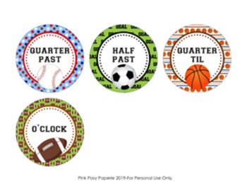 All Star Sports Clock Number Labels