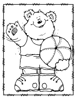 All Star Sports Coloring Pages