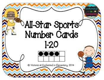 All-Star Sports Number Cards 1-20