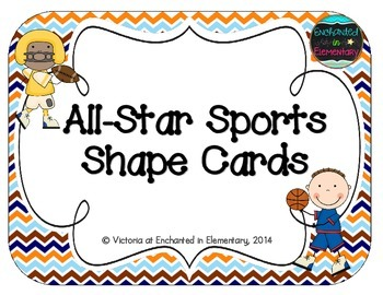 All-Star Sports Shape Cards