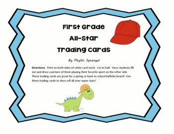 All-Star Trading Card Activity
