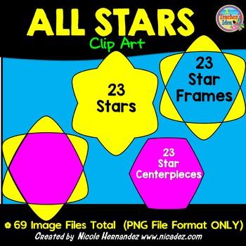 All Stars Clip Art for Teachers