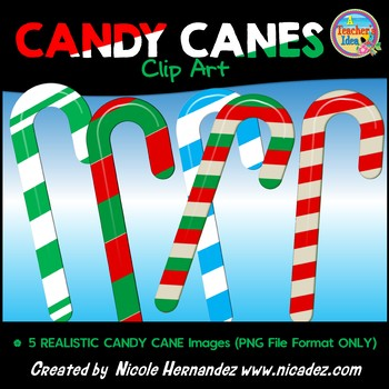 Candy Cane Clip Art for Commercial Use