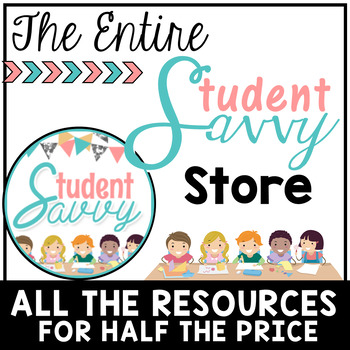 All StudentSavvy Resources Bundle - Half the Price!