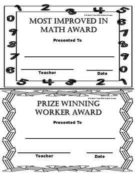 All Students Deserve An End Of The Year Award Non-Editable Set