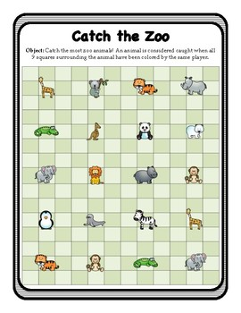 All Subject Board Game - Catch the Zoo