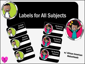 All Subject Labels with African American Melonheadz