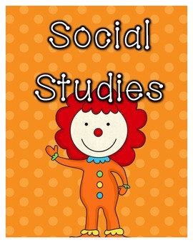 Reading, Writing, LA, Math, SS, Science Circus Binder Covers and Spines