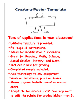 All Subject Technology Poster Project Template Pack Direct