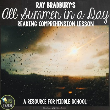 All Summer In A Day: Comprehension