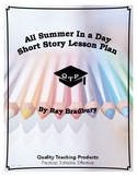 Lesson: All Summer In A Day by Ray Bradbury Lesson Plan, Worksheets, Key