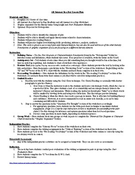photograph relating to All Summer in a Day Worksheet known as Lesson: All Summer months Inside A Working day by way of Ray Bradbury Lesson Program, Worksheets, Principal