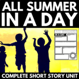 All Summer In A Day by Ray Bradbury: Short Story Unit - Questions and Project