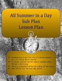 All Summer In a Day Lesson Plan Sub Plan