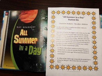 All Summer in A Day analysis station activity