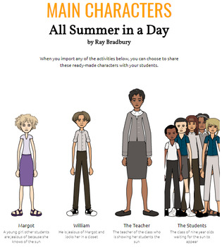 All Summer in a Day Activities: Imagery, Plot Diagram, Figurative Language