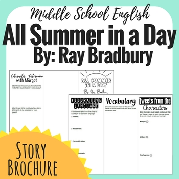 All Summer in a Day - Short Story Brochure
