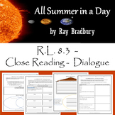 All Summer in a Day - Close Reading/Diving into Dialogue