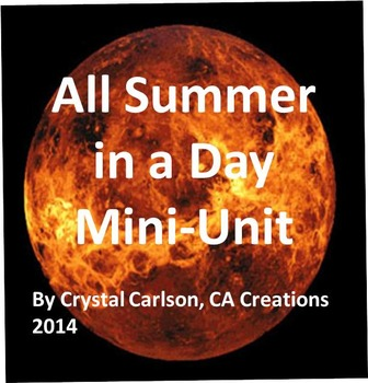 All Summer in a Day Mini Unit