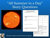 All Summer in a Day Questions-Common Core Aligned