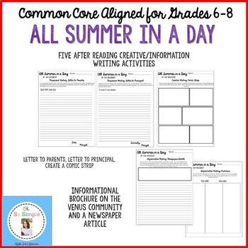 all summer in a day comic strip