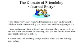 All Summer in a Day: Reading & Writing Activity