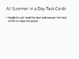 All Summer in a Day Task Cards