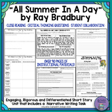 """All Summer in a Day"" by Ray Bradbury-Characterization and Inferencing"