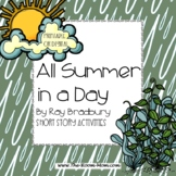 All Summer in a Day Short Story Activities