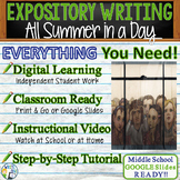 All Summer in a Day by Ray Bradbury - Text Dependent Analysis Expository Writing