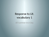 All Summer in a Day vocabulary 1