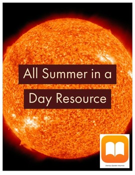 """""""All Summer in a Day"""" vocabulary activity"""