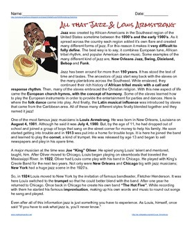 All That Jazz & Louis Armstrong Reader