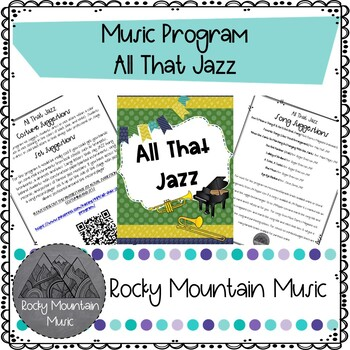 All That Jazz Music Program